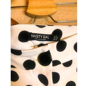 """Nasty Gal Pants & Jumpsuits - Nasty Gal's """"What's Dot Into You"""" Dotted Pants"""